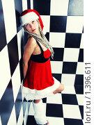 Девушка в костюме снегурочки. Стоковое фото, фотограф Евгения Ус / Фотобанк Лори