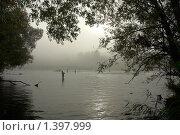 Сентябрьская рыбалка на Осетре. Стоковое фото, фотограф Виктор Вуколов / Фотобанк Лори