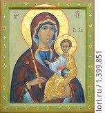 Купить «Икона Богородицы с младенцем», фото № 1399851, снято 11 января 2010 г. (c) Дмитрий Калиновский / Фотобанк Лори