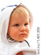 Портрет малыша в капюшоне. Стоковое фото, фотограф Ольга Алиева / Фотобанк Лори