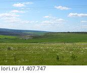 Купить «Горный пейзаж летом», фото № 1407747, снято 7 июня 2009 г. (c) Сергей Зубов / Фотобанк Лори