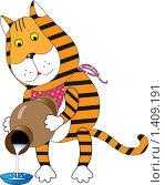 Купить «Тигр-Водолей», иллюстрация № 1409191 (c) Ольга Завгородняя / Фотобанк Лори