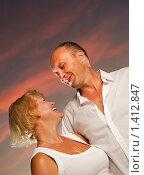 Купить «Семейная пара в возрасте», фото № 1412847, снято 15 ноября 2008 г. (c) Andrejs Pidjass / Фотобанк Лори