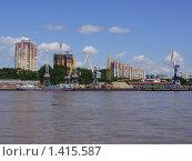 Купить «Берег реки Амур в городе Хабаровск», фото № 1415587, снято 26 июля 2009 г. (c) Денис Кравченко / Фотобанк Лори