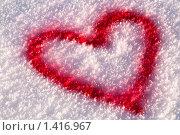 Сердце на снегу. Стоковое фото, фотограф Александр Рюмин / Фотобанк Лори