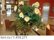 Розы в отеле. Стоковое фото, фотограф Николай Бескоровайный / Фотобанк Лори