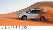 Джип в пустыне (2010 год). Стоковое фото, фотограф Анна Диордиева / Фотобанк Лори