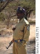 Купить «Полицейский из Харгейсы», фото № 1418711, снято 13 января 2010 г. (c) Free Wind / Фотобанк Лори