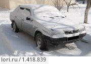 Купить «Машина под снегом», фото № 1418839, снято 25 января 2010 г. (c) Королевский Василий Федорович / Фотобанк Лори