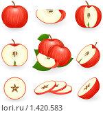 Купить «Красное яблоко», иллюстрация № 1420583 (c) Ирина Иглина / Фотобанк Лори