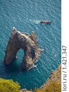 Купить «Карадаг, скала Золотые Ворота Крыма», фото № 1421347, снято 24 сентября 2009 г. (c) Олег Титов / Фотобанк Лори