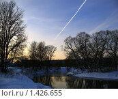 Зимний закат (2010 год). Стоковое фото, фотограф Александр Справников / Фотобанк Лори