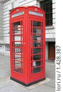 Купить «Красная телефонная лондонская будка», фото № 1428387, снято 29 сентября 2007 г. (c) Екатерина Овсянникова / Фотобанк Лори