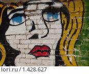 Купить «Граффити. Голубые глаза», фото № 1428627, снято 30 января 2010 г. (c) Денис Кравченко / Фотобанк Лори