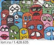 Купить «Граффити в разноцветных тонах», фото № 1428635, снято 30 января 2010 г. (c) Денис Кравченко / Фотобанк Лори