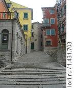 Купить «Хорватия. Город Лабин. Улица города», фото № 1431703, снято 20 августа 2007 г. (c) Илюхин Илья / Фотобанк Лори