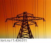 Купить «Линия электропередачи», фото № 1434011, снято 22 апреля 2009 г. (c) Andrejs Pidjass / Фотобанк Лори