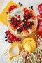 Блинный пирог с голубикой и красной смородиной, эксклюзивное фото № 1435611, снято 27 января 2010 г. (c) Лисовская Наталья / Фотобанк Лори