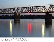 Железнодорожный мост через Обь. Стоковое фото, фотограф Энди / Фотобанк Лори