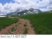 """Кавказ. Адыгея. Лаго-Наки. Вид на вершину """"Оштен"""". (2007 год). Редакционное фото, фотограф Валерий Шевяков / Фотобанк Лори"""