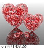 Купить «Сердца с символами Марса и Венеры», иллюстрация № 1438355 (c) Alperium / Фотобанк Лори