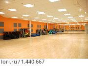Купить «Фитнес. Зал групповых занятий», фото № 1440667, снято 25 декабря 2008 г. (c) Боев Дмитрий / Фотобанк Лори