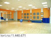 Купить «Фитнес. Зал групповых занятий», фото № 1440671, снято 25 декабря 2008 г. (c) Боев Дмитрий / Фотобанк Лори