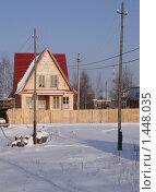 Купить «Дачный домик, зима», фото № 1448035, снято 12 июля 2009 г. (c) Ольга Лерх Olga Lerkh / Фотобанк Лори