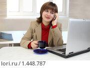 Купить «Девушка в офисе», фото № 1448787, снято 31 января 2010 г. (c) Alechandro / Фотобанк Лори