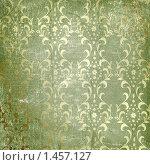 Старый зеленый фон с растительным орнаментом. Стоковая иллюстрация, иллюстратор Lora Liu / Фотобанк Лори