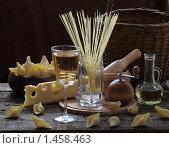 Макароны,сыр и белое вино. Стоковое фото, фотограф Марина Володько / Фотобанк Лори
