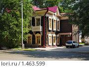 Купить «Деревянная архитектура в Томске», фото № 1463599, снято 18 июля 2009 г. (c) Михаил Марковский / Фотобанк Лори