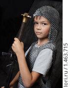Купить «Юный рыцарь», фото № 1463715, снято 19 августа 2009 г. (c) Anna Kavchik / Фотобанк Лори