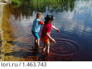 Купить «Дети играют в воде», фото № 1463743, снято 7 августа 2009 г. (c) Мишурова Виктория / Фотобанк Лори