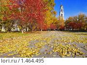 Осенний пейзаж с колокольней Вознесенской церкви в Екатеринбурге (2008 год). Стоковое фото, фотограф Михаил Марковский / Фотобанк Лори