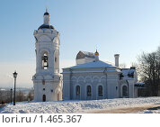 Купить «Георгиевская колокольня. Коломенское. Москва», фото № 1465367, снято 7 февраля 2010 г. (c) Екатерина Овсянникова / Фотобанк Лори