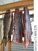 Купить «Подготовка рыбы к копчению», эксклюзивное фото № 1469575, снято 8 апреля 2009 г. (c) Алёшина Оксана / Фотобанк Лори