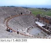 Античный театр в древнем городе Хиерополисе (2006 год). Стоковое фото, фотограф Татьяна Трофимова / Фотобанк Лори