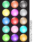 Набор блестящих стеклянных шаров. Шарики. Стоковая иллюстрация, иллюстратор Роман Зацаринин / Фотобанк Лори