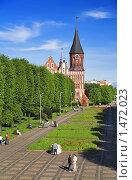 Купить «Кафедральный собор на острове Канта в Калининграде», фото № 1472023, снято 10 мая 2008 г. (c) Михаил Марковский / Фотобанк Лори