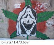 Купить «Граффити. Весёлое привидение.», фото № 1473659, снято 13 февраля 2010 г. (c) Денис Кравченко / Фотобанк Лори