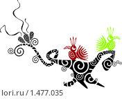 Дерево с птицами. Стоковая иллюстрация, иллюстратор Светлана Арешкина / Фотобанк Лори