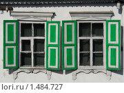 Традиционные русские окна со ставнями. Стоковое фото, фотограф Сергей Флоренцев / Фотобанк Лори