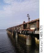 Купить «Ржавый причал на Соловецком острове», фото № 1485171, снято 2 сентября 2009 г. (c) Шейнина Ольга / Фотобанк Лори