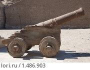 Купить «Старая пушка в Эль-Кусейр», фото № 1486903, снято 3 января 2010 г. (c) Яков Филимонов / Фотобанк Лори