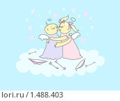 Купить «Ангелочки», иллюстрация № 1488403 (c) Стойко Елена / Фотобанк Лори