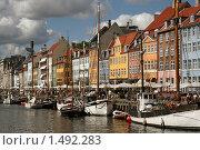 Копенгаген, набережная Nyhavn (2007 год). Редакционное фото, фотограф Толкачева Мария / Фотобанк Лори