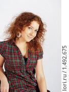 Купить «Рыжая девушка. Портрет.», фото № 1492675, снято 24 октября 2009 г. (c) Акопян Мариам / Фотобанк Лори