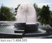 """Фонтан """"Одуванчик"""" в городском парке Новосибирска (2009 год). Редакционное фото, фотограф Андрей Дегтярев / Фотобанк Лори"""