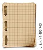 Купить «Тетрадные листы, скрепленные лентой», иллюстрация № 1495763 (c) Lora Liu / Фотобанк Лори